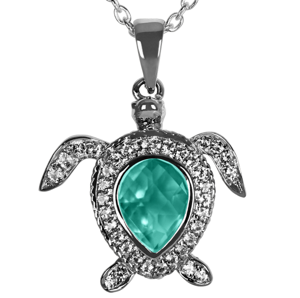 Green Sea Turtle Pendant